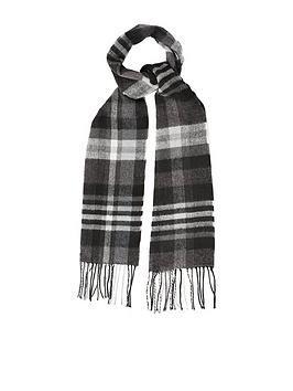burton-menswear-london-check-scarf-grey