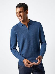 burton-menswear-london-burton-jordan-textured-knitted-polo--blue
