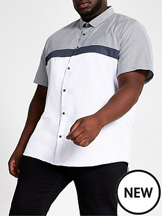river-island-big-and-tall-white-slim-fit-blocked-shirt