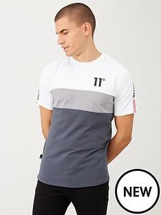 11-degrees-triple-panel-taped-t-shirt-greysilver
