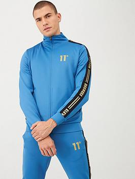 11-degrees-asymmetric-logo-tracksuit-top-blue
