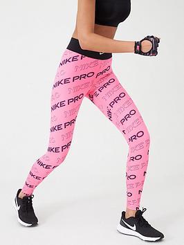 Nike Nike Training Pro Printed Legging - Pink Picture