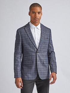 burton-menswear-london-burton-highlight-prince-of-wales-check-blazer-blue