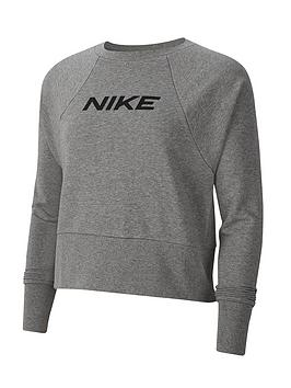 Nike Nike Training Get Fit Logo Sweat Top - Carbon Heather Picture