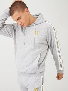 11 Degrees 11 Degrees Taped Pull Over Hoodie - Grey Marl Picture