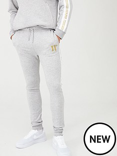 11-degrees-taped-joggers-grey-marl