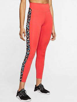 Nike Nike The One Heritage Daisy Leggings - Red Picture