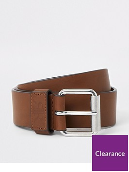river-island-tan-ri-keeper-buckle-belt