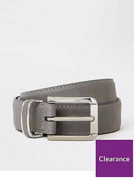river-island-grey-faux-suede-buckle