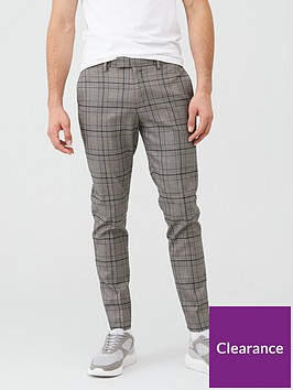 river-island-black-check-stretch-skinny-suit-trousers