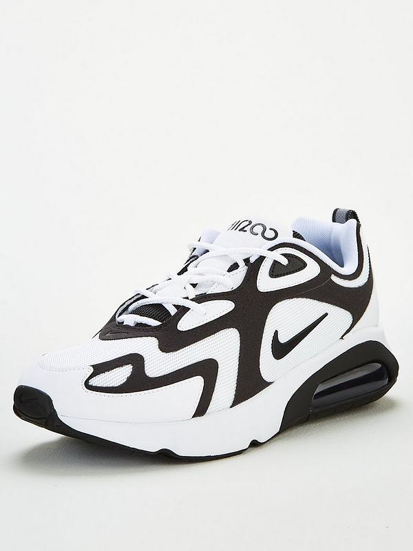 nike air max 200 mens black and white