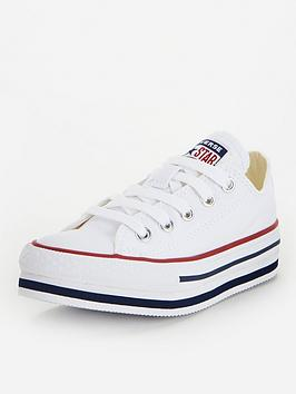 Converse Converse Chuck Taylor All Star Ox Platform Eva Childrens Trainers  ... Picture