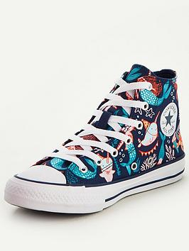 Converse Converse Chuck Taylor All Star Hi Mermaid Childrens Trainers -  ... Picture