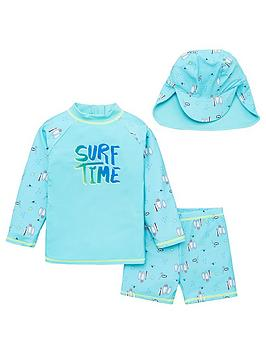 V by Very V By Very Boys Surf Time Sunsafe With Hat - Multi Picture