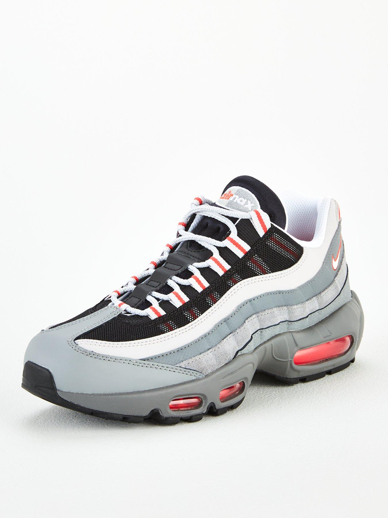 air max 95 grey and red