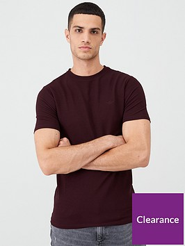 river-island-dark-red-ribbed-muscle-fit-t-shirt