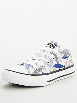 Converse Converse Chuck Taylor All Star Ox Shark Bite Childrens Trainers Picture