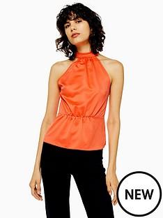 topshop-topshop-satin-bow-back-halter-top-orange