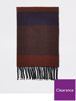 river-island-dark-red-check-blanket-scarf