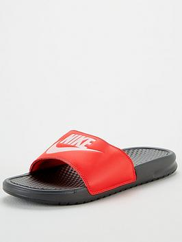 Nike Nike Benassi Just Do It Slides - Red/Black Picture