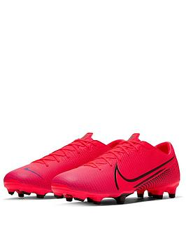 Nike Nike Mercurial Vapor 13 Academy Firm Ground Football Boots - Red/Black Picture