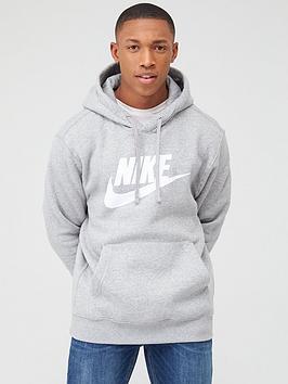 Nike Nike Club Graphic Overhead Hoodie - Dark Grey Picture