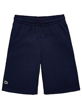 Lacoste Sports  Boys Classic Jersey Shorts - Navy