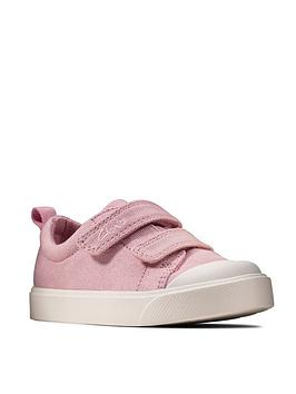 Clarks Clarks Toddler City Bright Canvas Shoe - Pink Picture