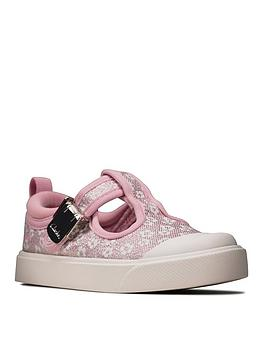 Clarks Clarks Toddler City Dance Canvas Shoe - Pink Picture