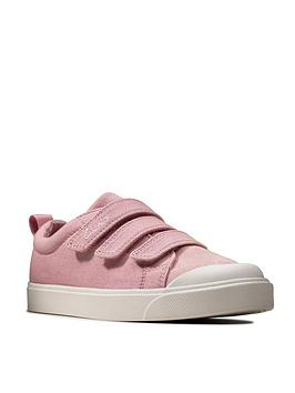 Clarks Clarks Girls City Vibe Canvas Shoe - Pink Picture