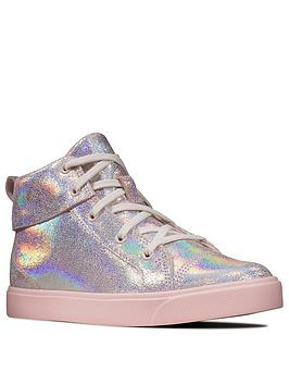 Clarks Clarks City Oasis Girls High Top Trainers - Pink Picture