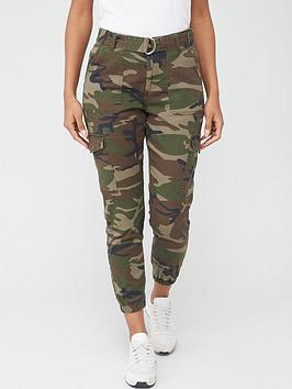 V by Very V By Very Utility Joggers - Camo Picture