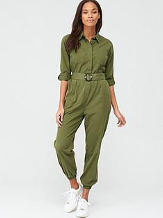 v-by-very-utility-button-up-jumpsuit-khaki