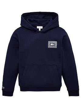 Lacoste Lacoste Boys Croc Logo Back Hoodie - Navy Picture