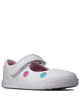 Clarks Clarks Toddler Girls Emery Dot Shoes - White Picture