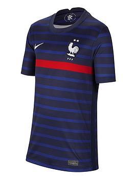 nike-youth-france-home-2020-short-sleeved-stadium-shirt-navy