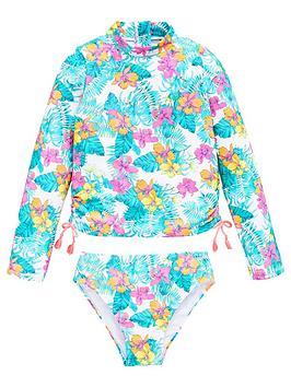 V by Very V By Very Girls 2 Piece Tropical Print Bikini Bottoms &Amp;  ... Picture