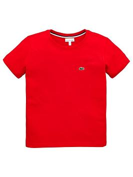 Lacoste Lacoste Boys Classic Short Sleeve T-Shirt - Red Picture
