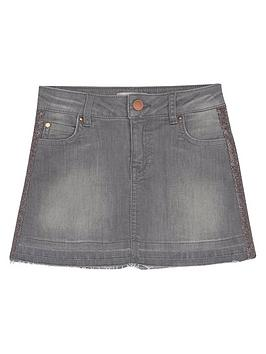 mintie-by-mint-velvet-girls-glitter-trim-denim-skirt-grey