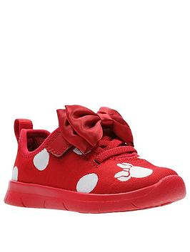 Clarks Clarks Minnie Mouse Ath Bow Toddler Girls Trainers - Red Picture