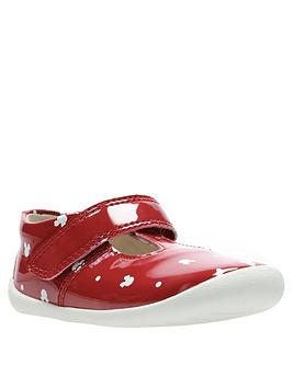 Clarks   X Minnie Mouse Roamer Polka First Shoe