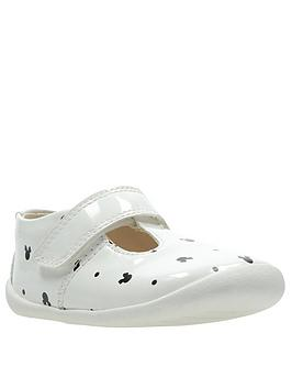 Clarks Clarks Clarks X Minnie Mouse Roamer Polka First Shoe - White Picture