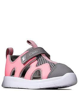 Clarks Clarks Girls Surf Sandals - Pink Picture