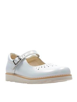 Clarks Clarks Older Girls Crown Jump Shoe - White Picture
