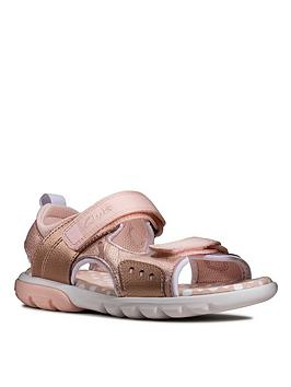 Clarks Clarks Rocco Tide Metallic Girls Sandal Picture