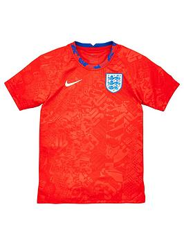 nike-junior-england-pre-match-training-top-red