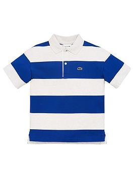 Lacoste Lacoste Boys Short Sleeve Stripe Pique Polo Picture