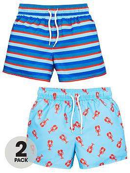 V by Very V By Very Boys 2-Pack Lobster Swimming Shorts - Multi Picture