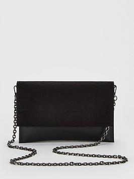 V by Very V By Very Kristina Double Gusset Clutch Bag - Black Picture