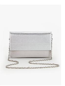 v-by-very-kristina-double-gusset-clutch-bag-grey